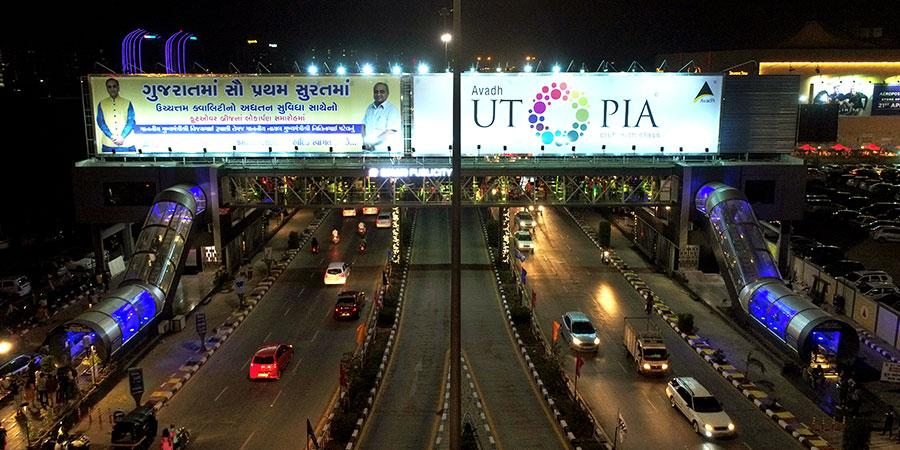 Surat OOH landscape adds more than 10 FOBs - 2019 - Shah Publicity